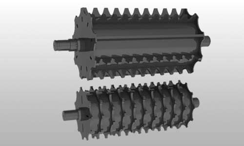 3D rendering of the chipper roller