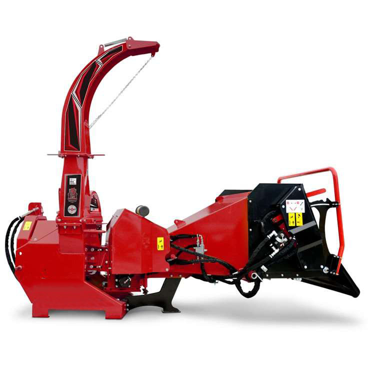 Wood chipper on a white background