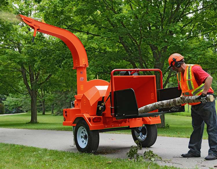 Demonstration photo of the Grizzly wood chipper