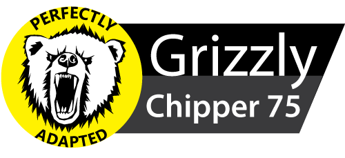 Design of the Grizzly 75 woodchipper logo