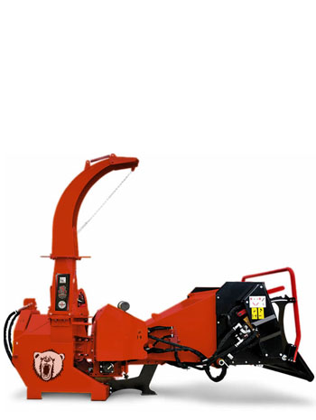 178 mm Diameter Capacity Hydraulic feed hopper with Intellifeed PTO Driven chipper Grizzly Chipper
