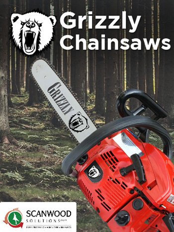 Chainsaws used to saw logs and trees