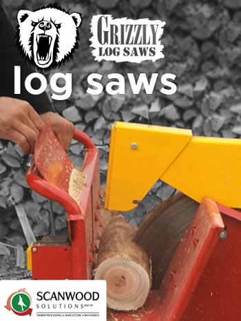 Log saw foto of type Grizzly sold in Southern Africa