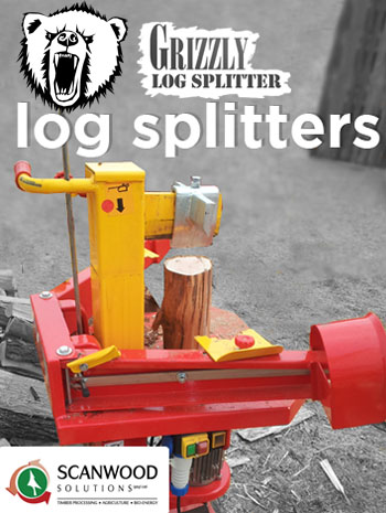 Log splitter foto of type Grizzly sold in Southern Africa
