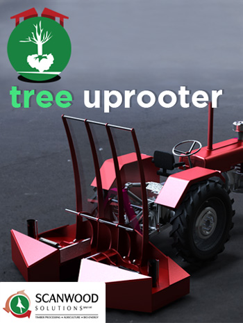 A Tree Uprooter to clear stands bushes to increase the carrying capacity of your land